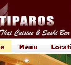 Tiparos Thai Cuisine & Sushi Bar